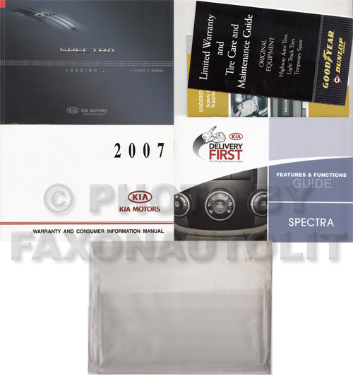 2007 Kia Spectra Owners Manual Original