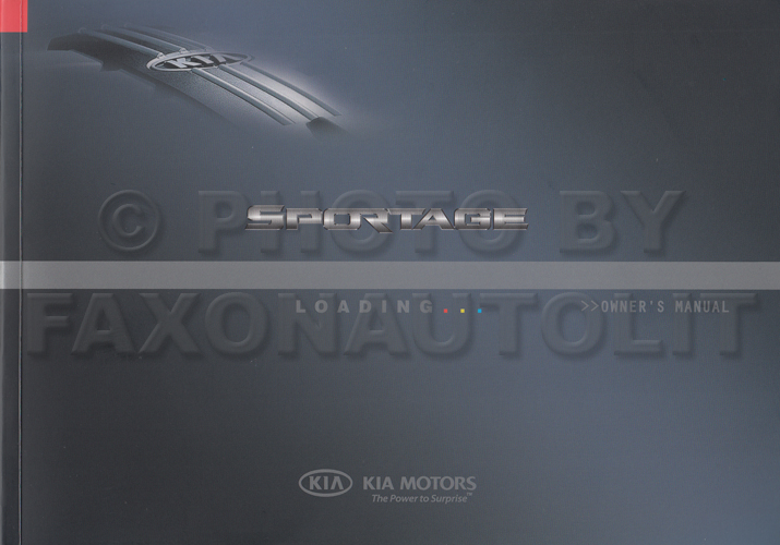 2007 Kia Sportage Owners Manual Original