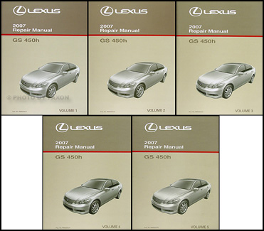 2007 Lexus GS 450h Repair Manual Original 5 Volume Set