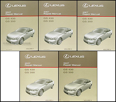 2007 Lexus GS 350 and GS 430 Repair Manual Original 5 Volume Set