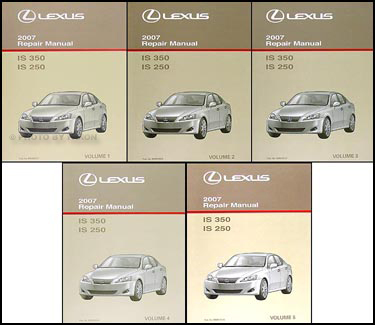 2007 lexus is 350/is 250 repair shop manual set original