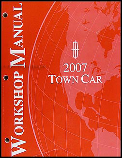 2007 Lincoln Town Car Shop Manual Original