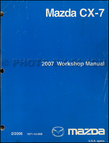 2008 Mazda CX-7 Repair Manual Original