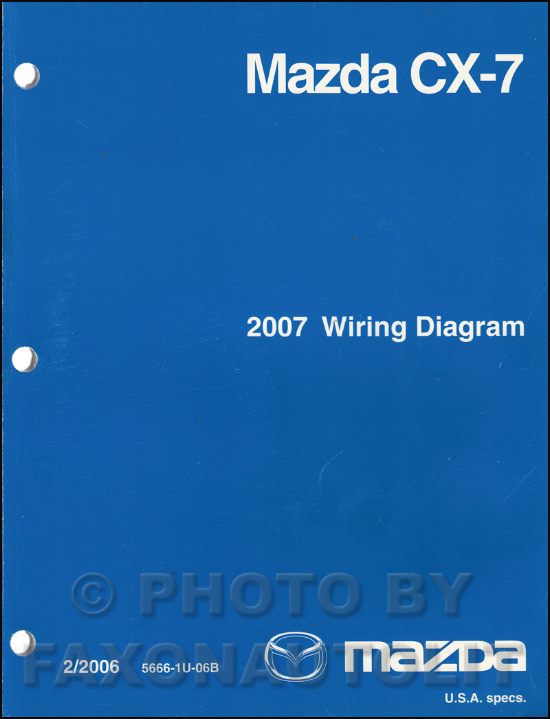 2007 Mazda CX-7 Wiring Diagram Manual Original