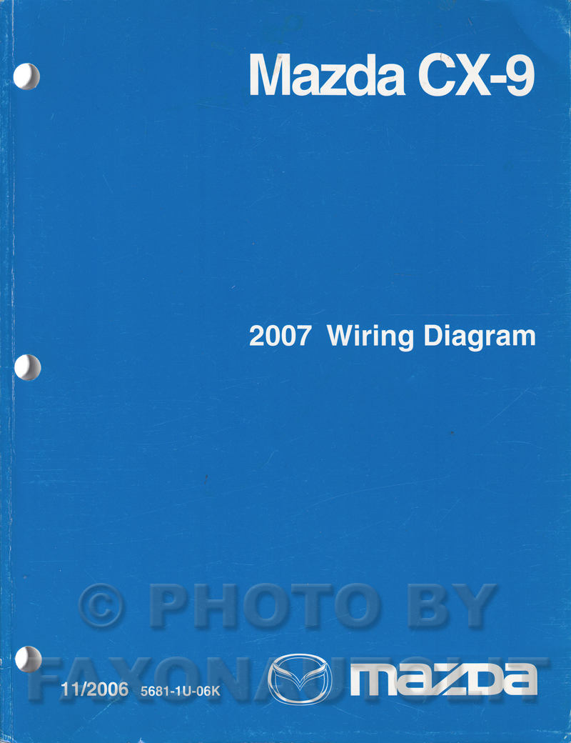 2007 Mazda CX-9 Wiring Diagram Manual Original