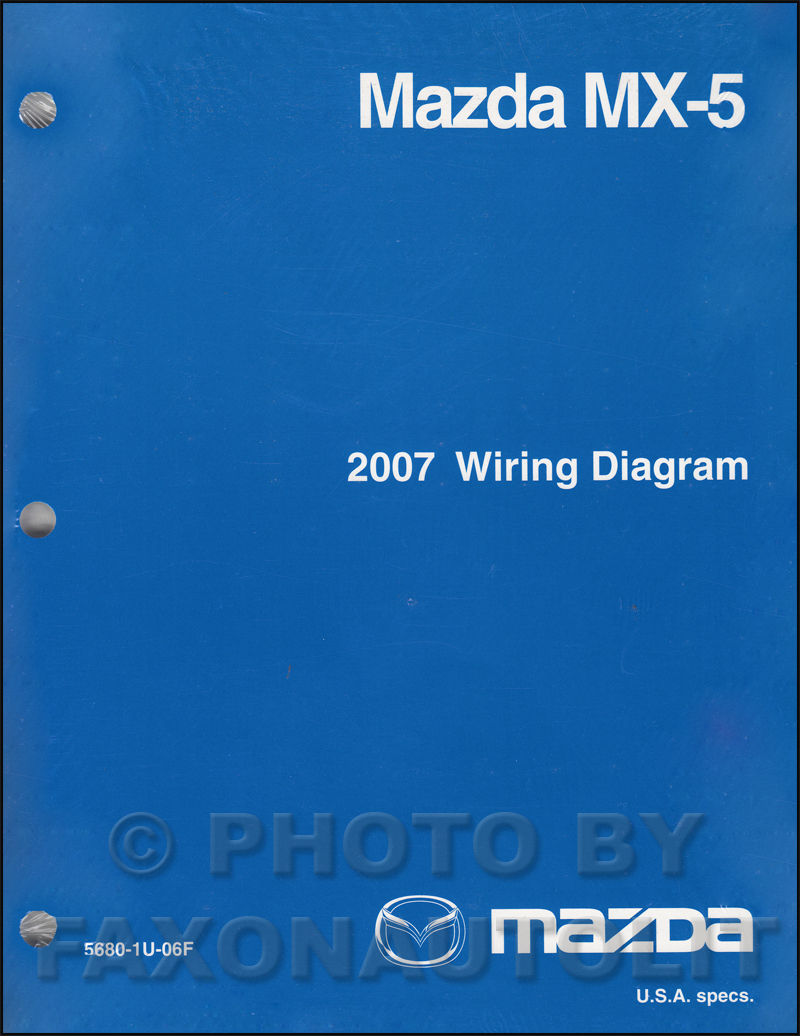 2007 Mazda MX-5 Miata Wiring Diagram Manual Original