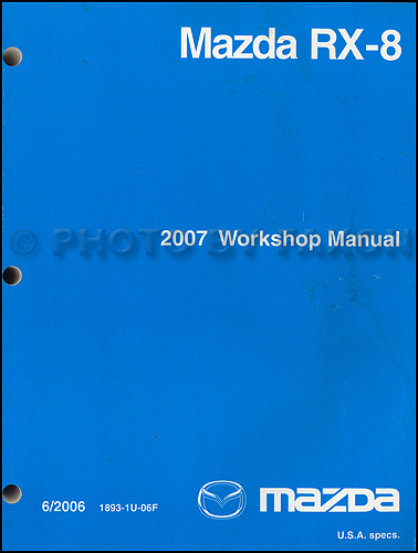 2008 Mazda RX-8 Repair Manual Original