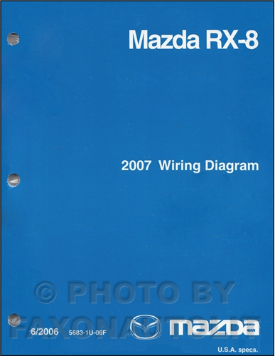 2007 Mazda RX-8 Wiring Diagram Manual Original RX8