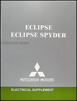 2006 Mitsubishi Eclipse & Spyder Wiring Diagram Manual Original