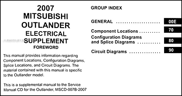 2007 Mitsubishi Outlander Wiring Diagram Manual Originalrhfaxonautoliterature: Mitsubishi Wiring Diagrams At Gmaili.net