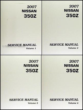 2007 Nissan 350Z Original Repair Manual 4 Volume Set
