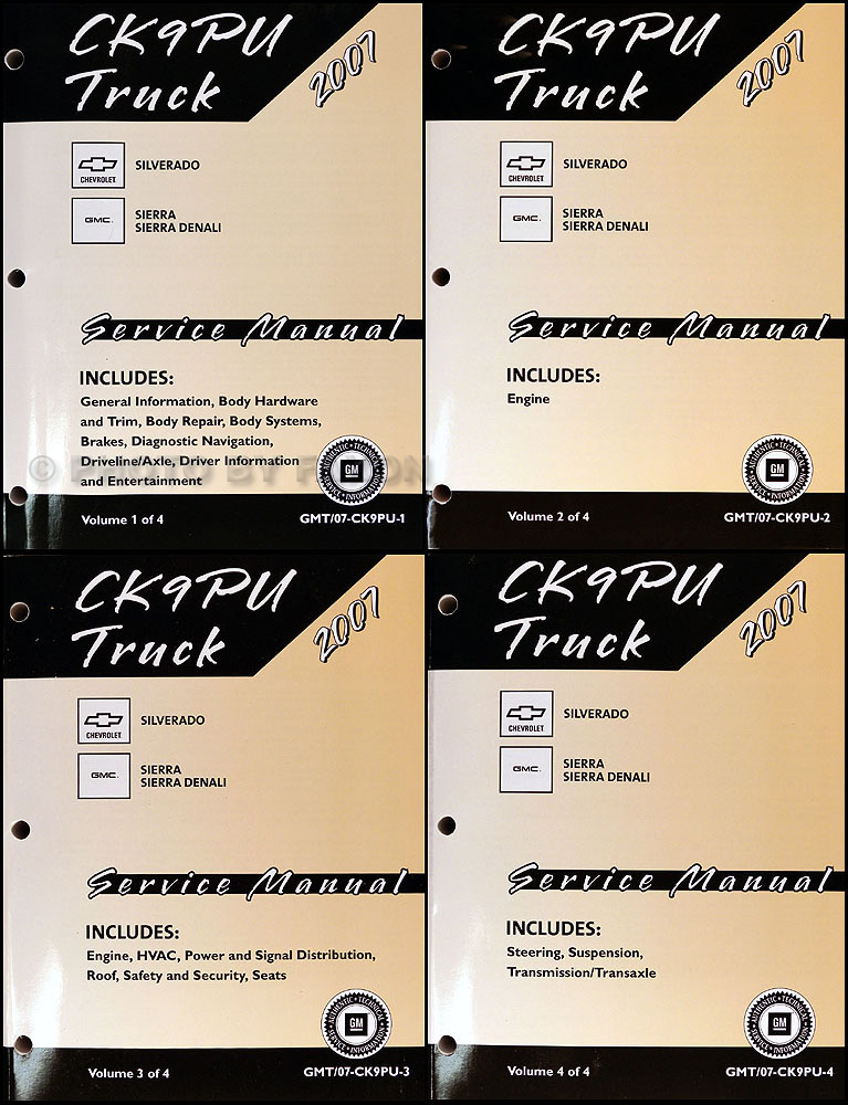 2007 Silverado and Sierra Repair Shop Manual Original Set CK9
