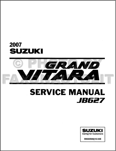 2006 Suzuki Grand Vitara Repair Manual Original