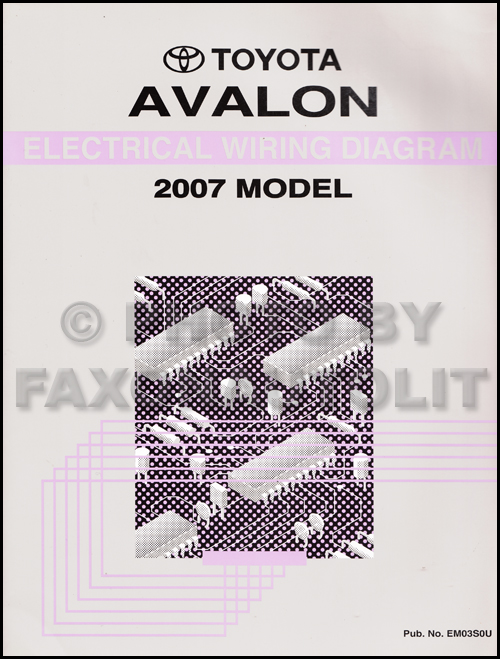 2007 Toyota Avalon Wiring Diagram Manual Original | 2007 Toyota Wiring Diagrams |  | Faxon Auto Literature