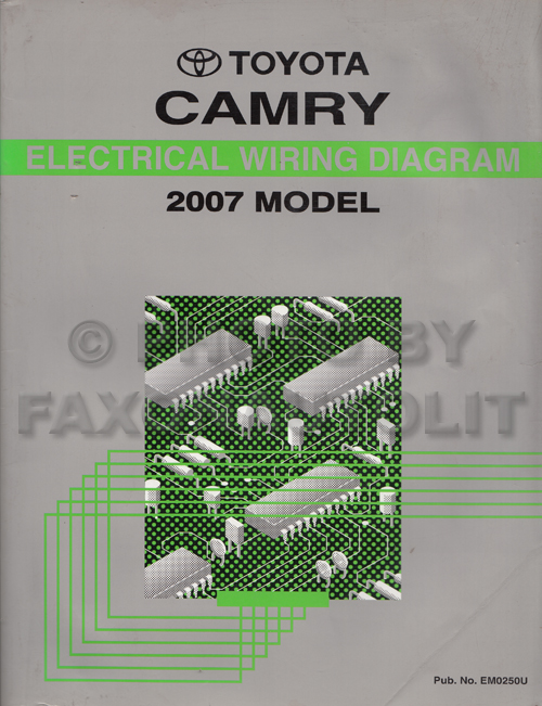 2007 toyota camry wiring diagram manual original rh faxonautoliterature com 2007 toyota camry ac wiring diagram 2007 toyota camry engine wiring diagram