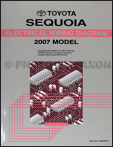 2007 Toyota Sequoia Wiring Diagram Manual Original