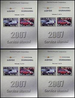 2007 Dodge Durango Chrysler Aspen Repair Manual Original 4 Volume Set