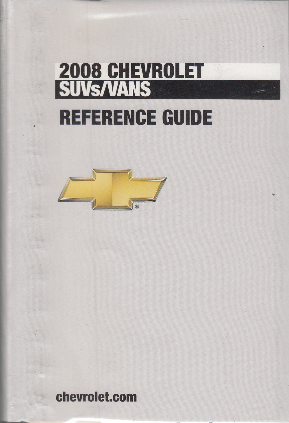 2008 Chevrolet SUV & Vans Data Book with Color & Upholstery Original