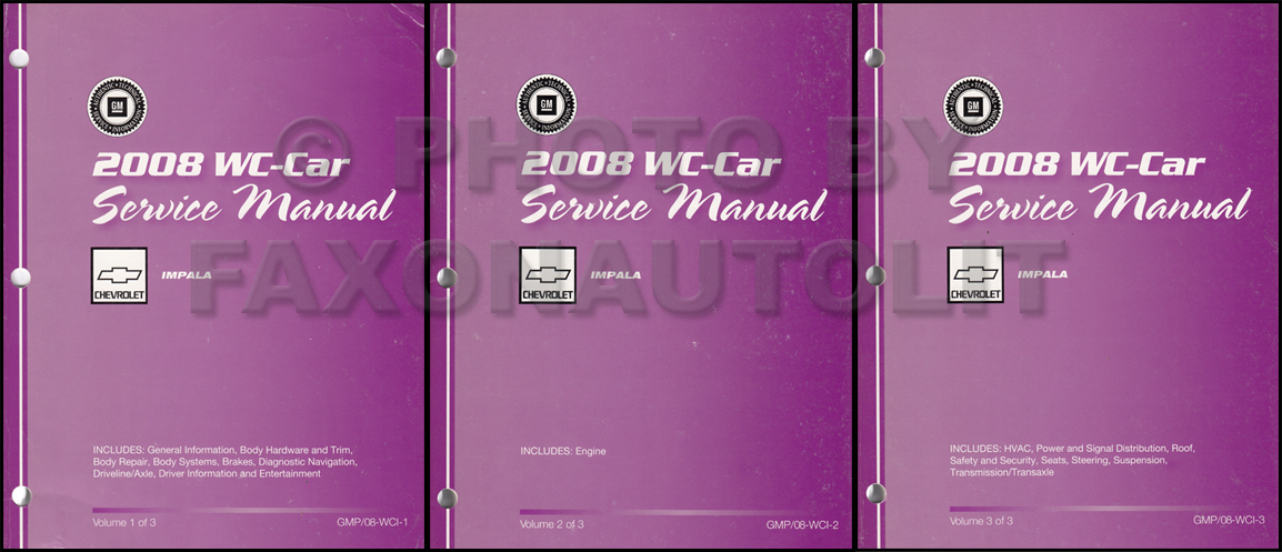 2000 Impala and Monte Carlo Repair Manual Original 3 Volume Set