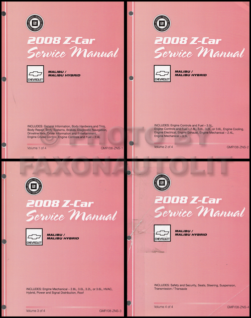 2003 Chevy Malibu Repair Manual Original 2 Volume Set