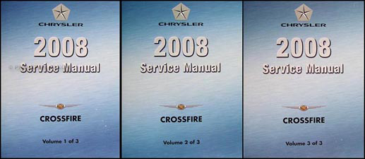 2008 Chrysler Crossfire Repair Manual Set Original