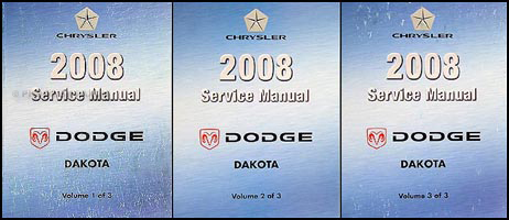 2008 Dodge Dakota Repair Manual 3 Vol Set Original