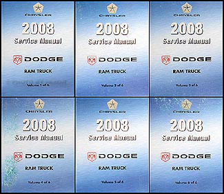 2008 Dodge Ram Truck Repair Manual Original 6 Volume Set
