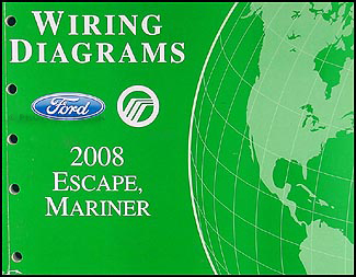 2008 Ford Escape & Mercury Mariner Wiring Diagram Manual Original