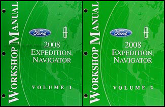 2008 Expedition & Navigator Repair Manual 2 Volume Set Original