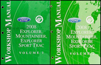 2008 Ford Explorer Mercury Mountaineer Repair Shop Manual Set Original
