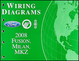 2008 fusion, milan, mkz wiring diagram manual original  faxon auto literature