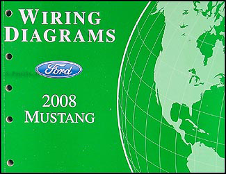 2008 ford mustang wiring diagram manual original  faxon auto literature