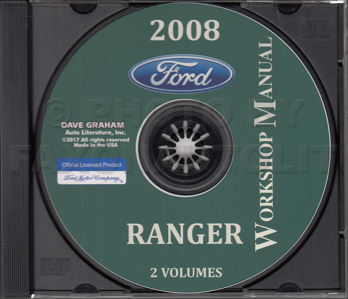 2008 Ford Ranger Repair Shop Manual Original 2 Volume Set