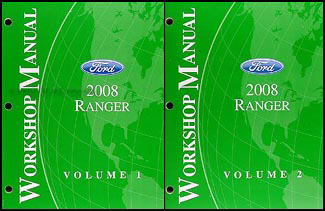 2008 Ford Ranger Repair Manual Original 2 Volume Set