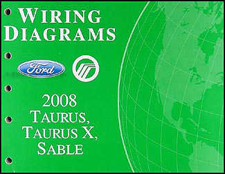 2008 ford taurus, taurus x, sable wiring diagrams manual original 2008 Ford Taurus Cylinder Diagram