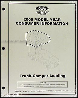 2008 Ford Pickup Camper Loading Instructions Original Consumer Info