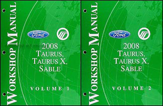 2008 Ford Taurus and Sable Shop Manual Original 2 Vol. Set