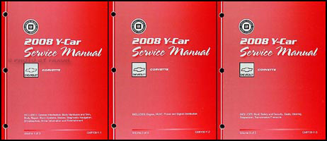 2008 Chevrolet Corvette Repair Shop Manual 3 Volume Set
