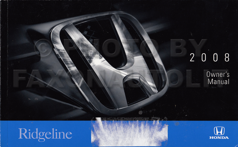 2008 Honda Ridgeline Owner's Manual Original