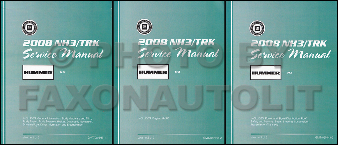 2008 Hummer H3 Repair Manual 2 Volume Set Original