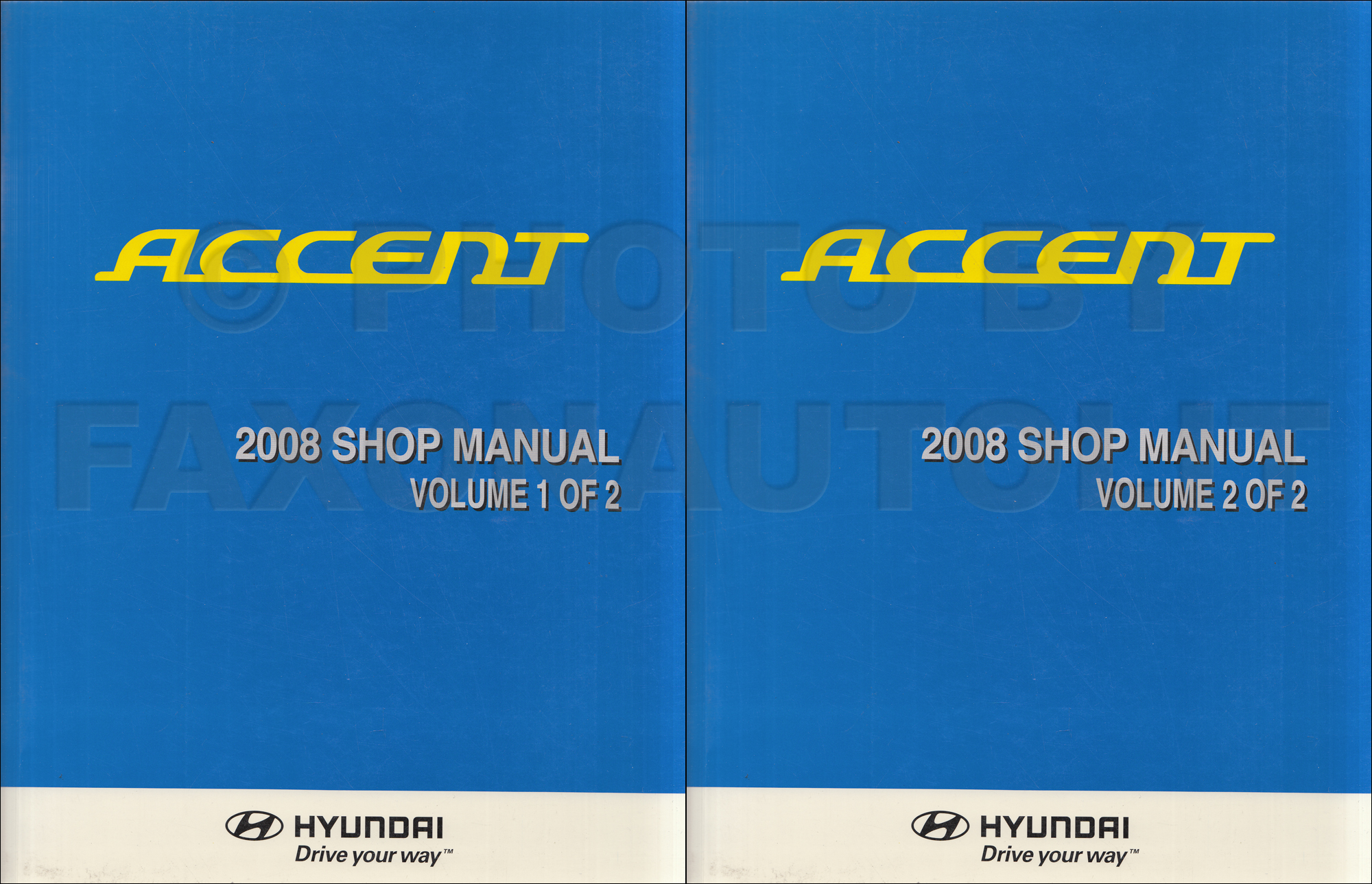 1999 Hyundai Accent Shop Manual Original 2 Volume Set