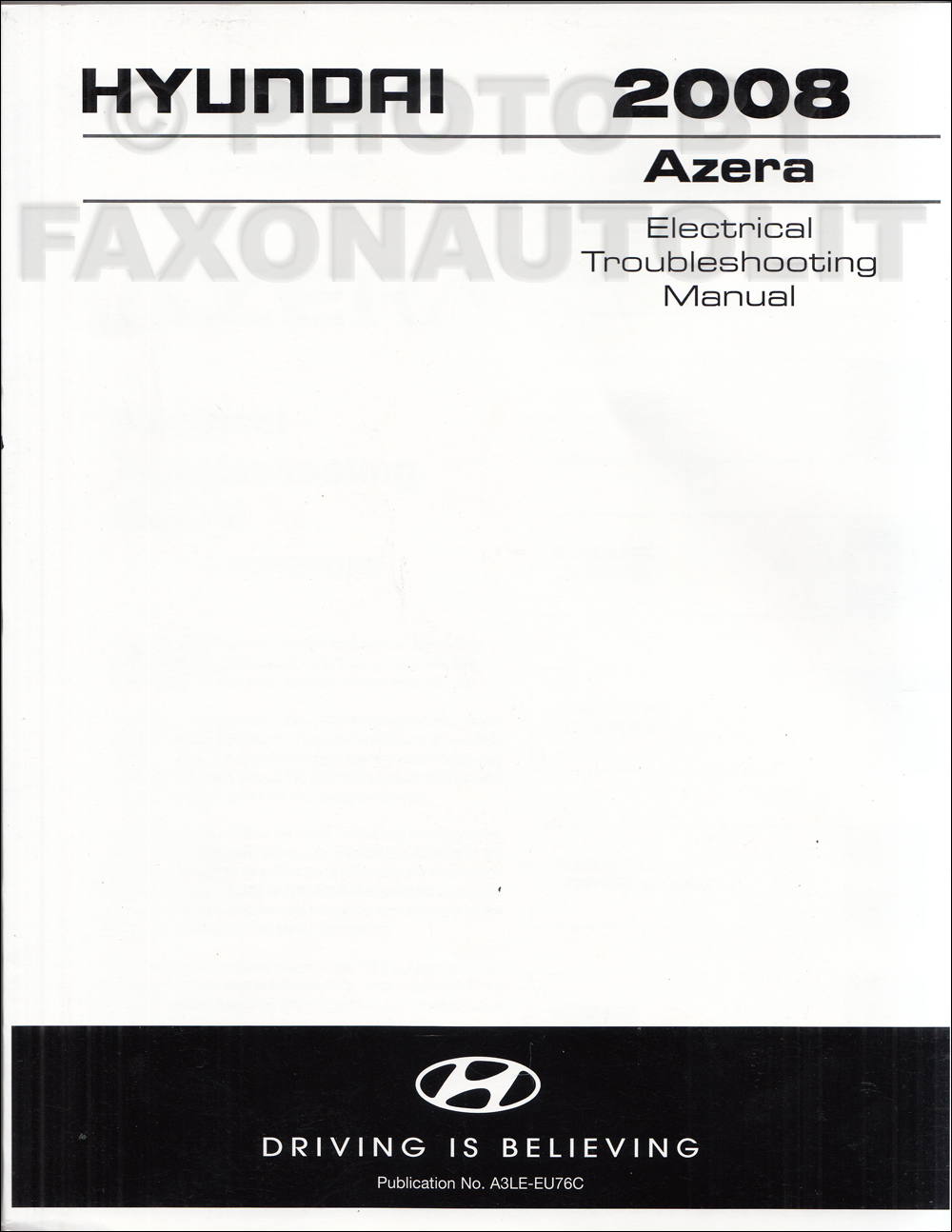 2008 Hyundai Azera Electrical Troubleshooting Manual Reprint