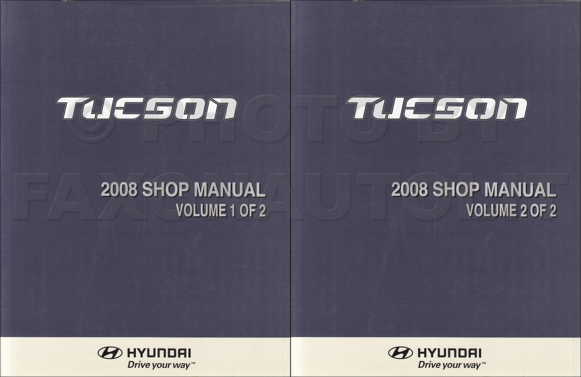 2007 Hyundai Tucson Repair Manual 2 Volume Set Original