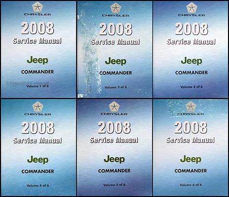 2008 Jeep Commander Shop Manual Set Original
