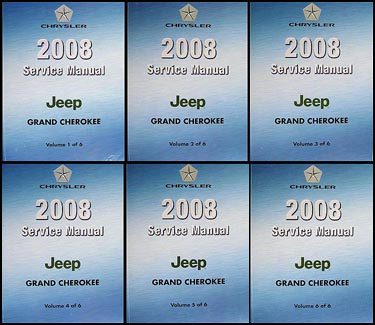 2008 Jeep Grand Cherokee Repair Manual Original 6 Vol. Set