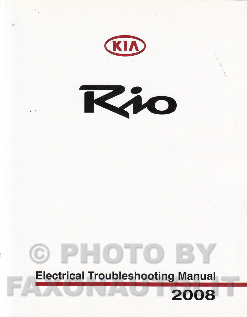 2008 Kia Rio Electrical Troubleshooting Manual Original