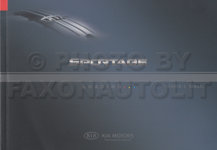 2008 Kia Sportage Owners Manual Original