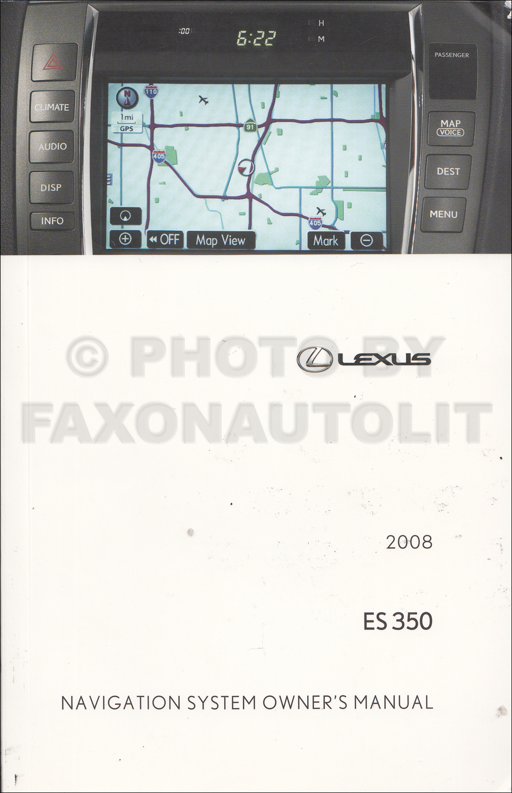 2008 Lexus ES 350 Navigation System Owners Manual Original