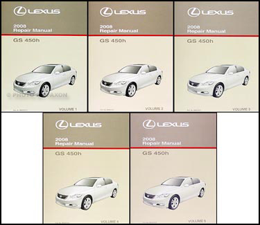 2008 Lexus GS 450h Repair Manual Original 6 Volume Set