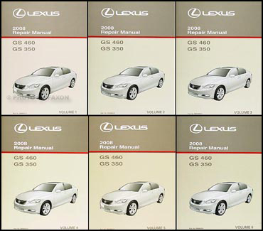 2008 Lexus GS 350 and GS 460 Repair Manual Original 6 Volume Set